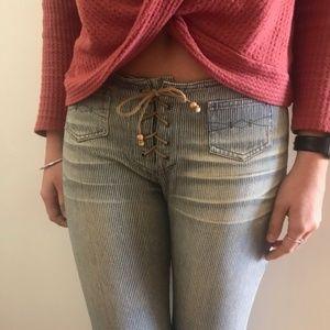 Mudd Women's Vintage Jeans Tie Front Flare 9